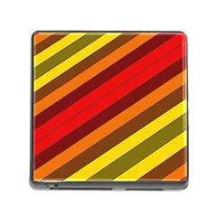 Abstract Bright Stripes Memory Card Reader (Square)