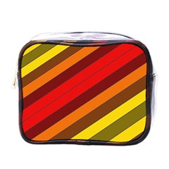 Abstract Bright Stripes Mini Toiletries Bags