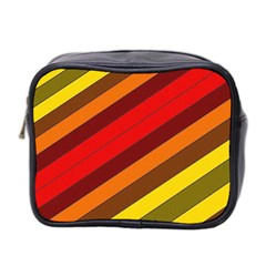 Abstract Bright Stripes Mini Toiletries Bag 2-Side