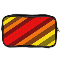 Abstract Bright Stripes Toiletries Bags