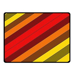 Abstract Bright Stripes Fleece Blanket (Small)