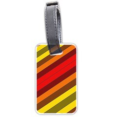 Abstract Bright Stripes Luggage Tags (One Side)