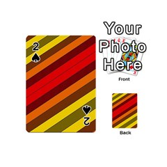 Abstract Bright Stripes Playing Cards 54 (Mini)