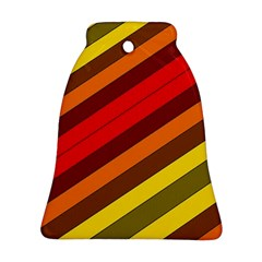 Abstract Bright Stripes Bell Ornament (Two Sides)