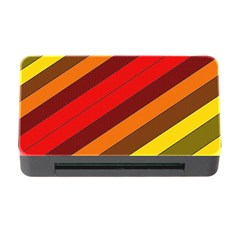 Abstract Bright Stripes Memory Card Reader With Cf