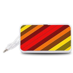 Abstract Bright Stripes Portable Speaker (White)