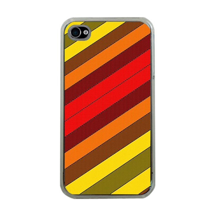 Abstract Bright Stripes Apple iPhone 4 Case (Clear)
