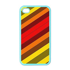Abstract Bright Stripes Apple iPhone 4 Case (Color)