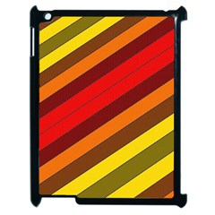 Abstract Bright Stripes Apple Ipad 2 Case (black)