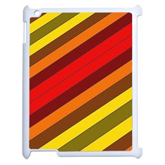 Abstract Bright Stripes Apple Ipad 2 Case (white)