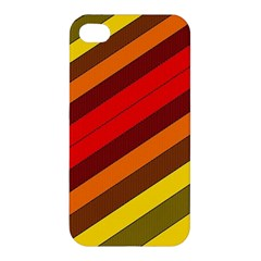 Abstract Bright Stripes Apple Iphone 4/4s Hardshell Case