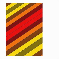 Abstract Bright Stripes Small Garden Flag (Two Sides)