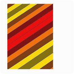 Abstract Bright Stripes Large Garden Flag (Two Sides)