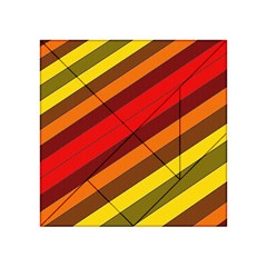 Abstract Bright Stripes Acrylic Tangram Puzzle (4  X 4 )
