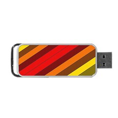 Abstract Bright Stripes Portable Usb Flash (two Sides)