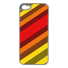 Abstract Bright Stripes Apple Iphone 5 Case (silver)