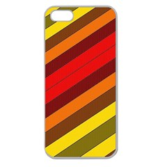 Abstract Bright Stripes Apple Seamless iPhone 5 Case (Clear)