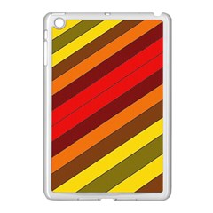 Abstract Bright Stripes Apple iPad Mini Case (White)