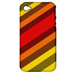 Abstract Bright Stripes Apple iPhone 4/4S Hardshell Case (PC+Silicone)