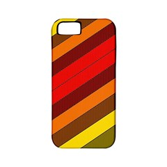 Abstract Bright Stripes Apple Iphone 5 Classic Hardshell Case (pc+silicone)