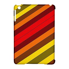 Abstract Bright Stripes Apple iPad Mini Hardshell Case (Compatible with Smart Cover)