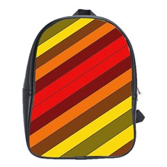 Abstract Bright Stripes School Bags (xl)