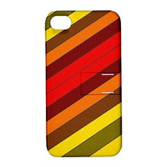 Abstract Bright Stripes Apple iPhone 4/4S Hardshell Case with Stand