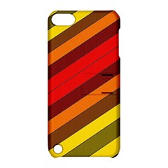 Abstract Bright Stripes Apple iPod Touch 5 Hardshell Case with Stand