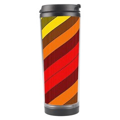 Abstract Bright Stripes Travel Tumbler