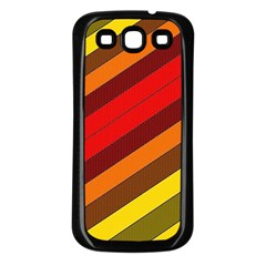Abstract Bright Stripes Samsung Galaxy S3 Back Case (black)
