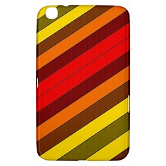 Abstract Bright Stripes Samsung Galaxy Tab 3 (8 ) T3100 Hardshell Case