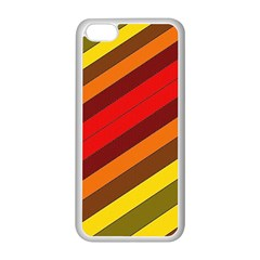 Abstract Bright Stripes Apple Iphone 5c Seamless Case (white)