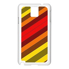 Abstract Bright Stripes Samsung Galaxy Note 3 N9005 Case (white)