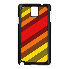 Abstract Bright Stripes Samsung Galaxy Note 3 N9005 Case (black)