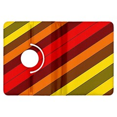 Abstract Bright Stripes Kindle Fire Hdx Flip 360 Case