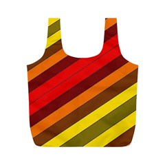 Abstract Bright Stripes Full Print Recycle Bags (M)