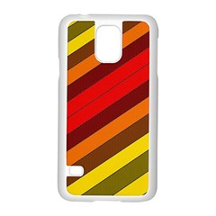 Abstract Bright Stripes Samsung Galaxy S5 Case (White)