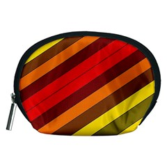 Abstract Bright Stripes Accessory Pouches (medium)