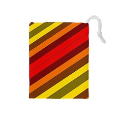 Abstract Bright Stripes Drawstring Pouches (Medium)