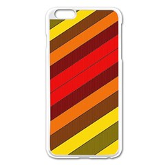 Abstract Bright Stripes Apple iPhone 6 Plus/6S Plus Enamel White Case