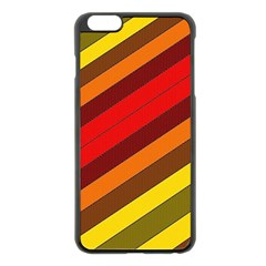 Abstract Bright Stripes Apple Iphone 6 Plus/6s Plus Black Enamel Case