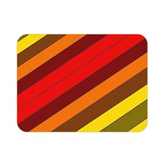 Abstract Bright Stripes Double Sided Flano Blanket (mini)