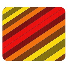 Abstract Bright Stripes Double Sided Flano Blanket (small)