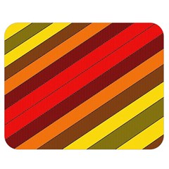 Abstract Bright Stripes Double Sided Flano Blanket (medium)