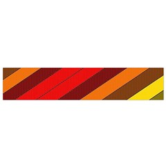 Abstract Bright Stripes Flano Scarf (Small)