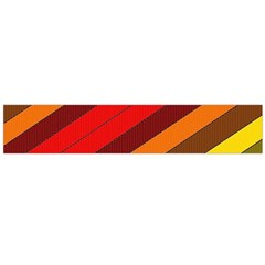 Abstract Bright Stripes Flano Scarf (Large)