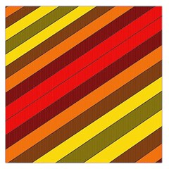 Abstract Bright Stripes Large Satin Scarf (Square)