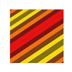 Abstract Bright Stripes Small Satin Scarf (square)