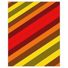Abstract Bright Stripes Drawstring Bag (Small)