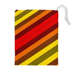 Abstract Bright Stripes Drawstring Pouches (extra Large)